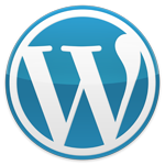 wordpress logo blue-l