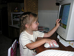 2 & 1/2 and already a computer junky!